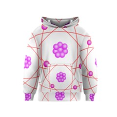 Atom Physical Chemistry Line Red Purple Space Kids  Pullover Hoodie
