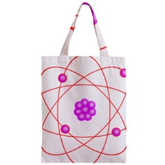 Atom Physical Chemistry Line Red Purple Space Zipper Classic Tote Bag