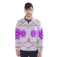 Atom Physical Chemistry Line Red Purple Space Wind Breaker (Men)