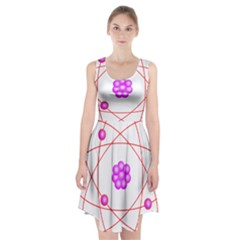 Atom Physical Chemistry Line Red Purple Space Racerback Midi Dress