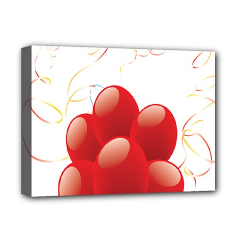 Balloon Partty Red Deluxe Canvas 16  x 12