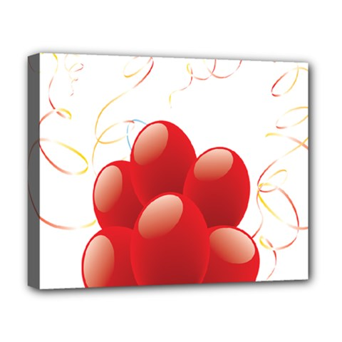 Balloon Partty Red Deluxe Canvas 20  x 16