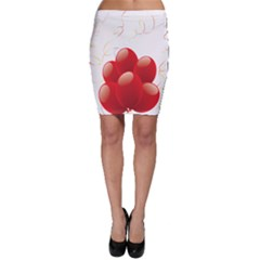 Balloon Partty Red Bodycon Skirt
