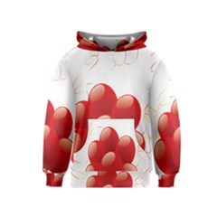 Balloon Partty Red Kids  Pullover Hoodie