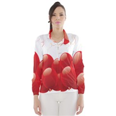 Balloon Partty Red Wind Breaker (Women)