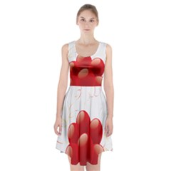Balloon Partty Red Racerback Midi Dress
