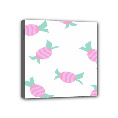 Candy Pink Blue Sweet Mini Canvas 4  x 4