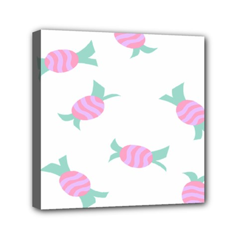 Candy Pink Blue Sweet Mini Canvas 6  X 6