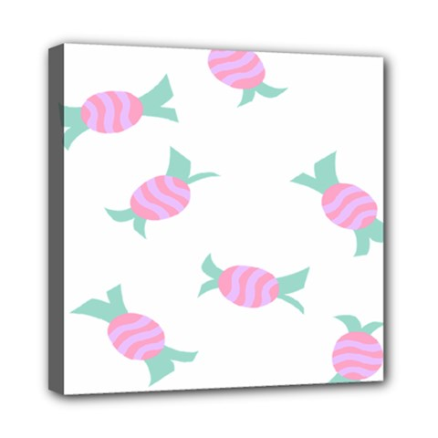 Candy Pink Blue Sweet Mini Canvas 8  x 8