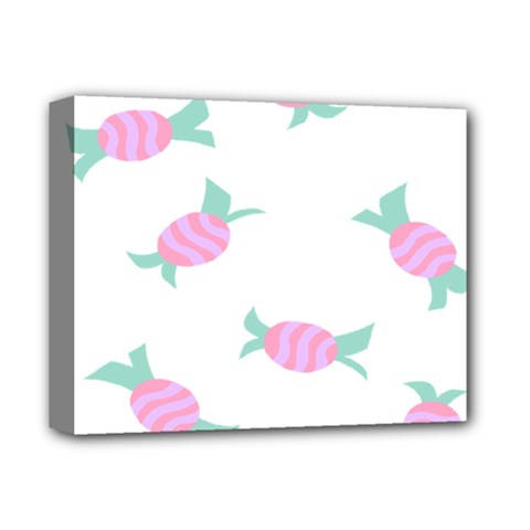 Candy Pink Blue Sweet Deluxe Canvas 14  x 11