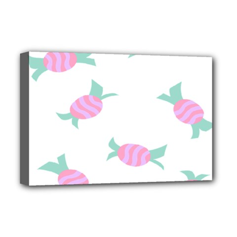 Candy Pink Blue Sweet Deluxe Canvas 18  X 12