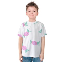 Candy Pink Blue Sweet Kids  Cotton Tee