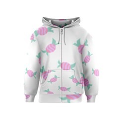 Candy Pink Blue Sweet Kids  Zipper Hoodie