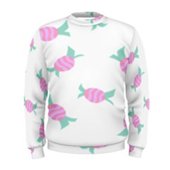 Candy Pink Blue Sweet Men s Sweatshirt