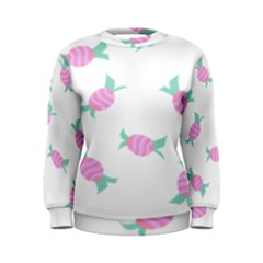 Candy Pink Blue Sweet Women s Sweatshirt