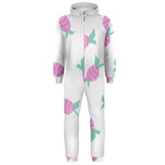 Candy Pink Blue Sweet Hooded Jumpsuit (men)