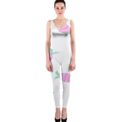 Candy Pink Blue Sweet OnePiece Catsuit