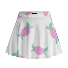Candy Pink Blue Sweet Mini Flare Skirt