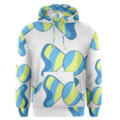 Candy Yellow Blue Men s Pullover Hoodie