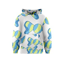 Candy Yellow Blue Kids  Pullover Hoodie