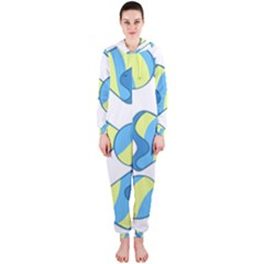 Candy Yellow Blue Hooded Jumpsuit (Ladies)