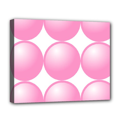 Circle Pink Deluxe Canvas 20  x 16