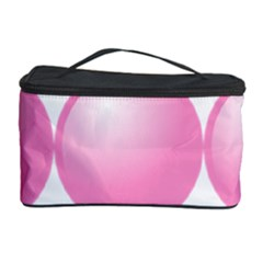 Circle Pink Cosmetic Storage Case