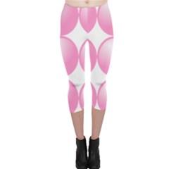 Circle Pink Capri Leggings