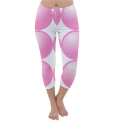 Circle Pink Capri Winter Leggings
