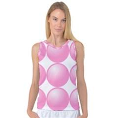 Circle Pink Women s Basketball Tank Top