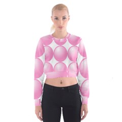 Circle Pink Women s Cropped Sweatshirt