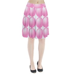 Circle Pink Pleated Skirt