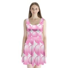 Circle Pink Split Back Mini Dress