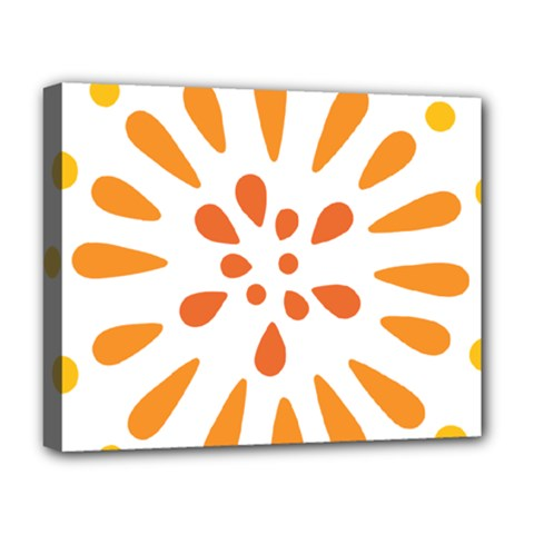 Circle Orange Deluxe Canvas 20  x 16