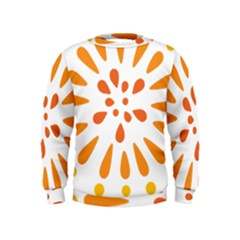 Circle Orange Kids  Sweatshirt