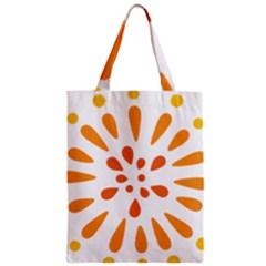 Circle Orange Zipper Classic Tote Bag