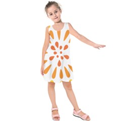 Circle Orange Kids  Sleeveless Dress