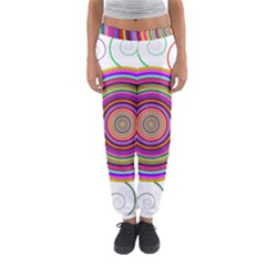 Abstract Spiral Circle Rainbow Color Women s Jogger Sweatpants