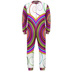 Abstract Spiral Circle Rainbow Color OnePiece Jumpsuit (Men)