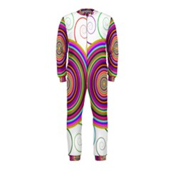 Abstract Spiral Circle Rainbow Color OnePiece Jumpsuit (Kids)