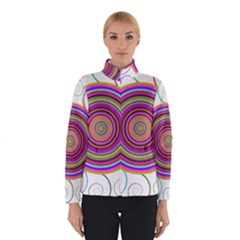 Abstract Spiral Circle Rainbow Color Winterwear