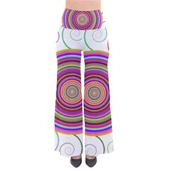 Abstract Spiral Circle Rainbow Color Pants