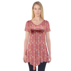 Circle Red Freepapers Paper Short Sleeve Tunic
