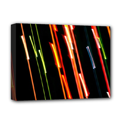 Colorful Diagonal Lights Lines Deluxe Canvas 16  x 12