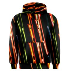 Colorful Diagonal Lights Lines Men s Pullover Hoodie