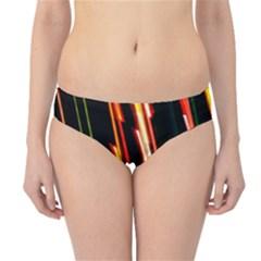 Colorful Diagonal Lights Lines Hipster Bikini Bottoms