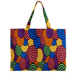 Circles Color Yellow Purple Blu Pink Orange Illusion Zipper Mini Tote Bag