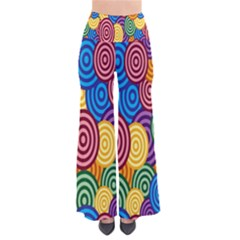 Circles Color Yellow Purple Blu Pink Orange Illusion Pants