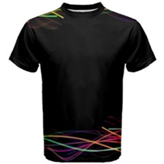 Colorful Light Frame Line Men s Cotton Tee