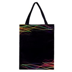 Colorful Light Frame Line Classic Tote Bag